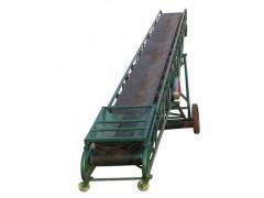 10米长袋粮装车输送机 爬坡伸缩皮带机型号