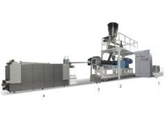 大型全自动膨化上浮性鱼饲料加工机械设备价格