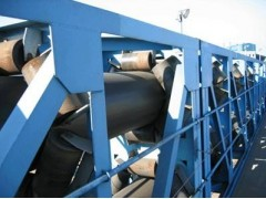 管状带式粉料传送机  六托辊带式输送机