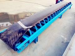 600mm宽加导料槽皮带输送机  防跑偏水平皮带输送机