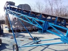 电动升降装车用输送机   双槽钢伸缩式皮带机