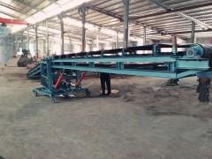 双向运行升降沙石料传送机 货物装大车皮带运输机
