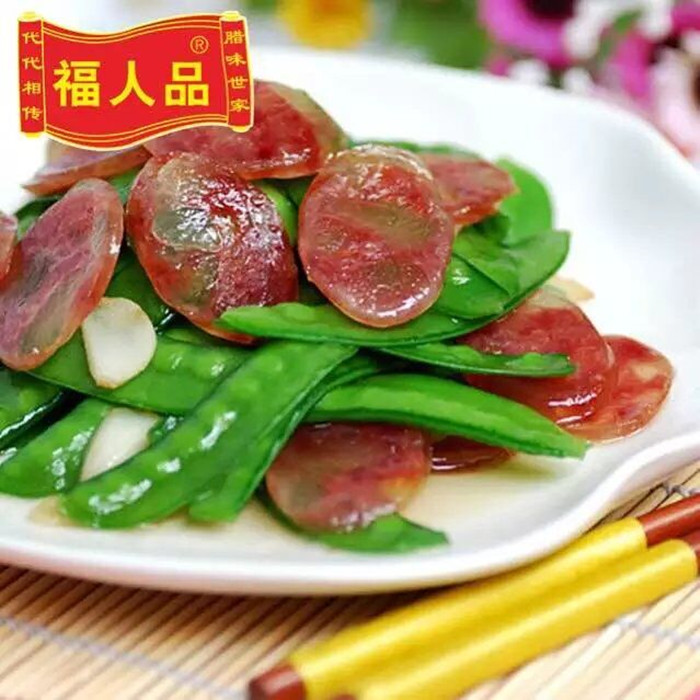 福人品腊味有很多种:腊肠、腊鸡、腊鱼、腊鸭、腊鱼