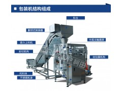 全自动湿河粉自动套袋机 河粉多个链斗式自动包装机