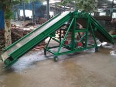行走式方管大架输送机  带护栏8#双槽钢皮带机