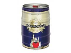 德国原装进口 天鹅城堡 黑啤 5L/桶