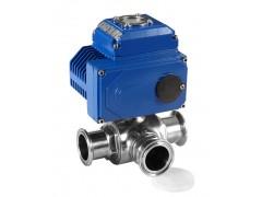 供应 电动卫生级三通球阀Q984F DN100