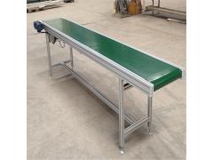食品输送机输送皮带厂家直销 铝型材框架PVC皮带输送机