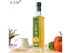 吴大厨山茶油500ml野生茶籽油孕妇宝宝食用油