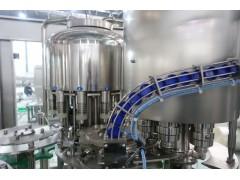 全自动冲瓶灌装拧盖三联蒸馏水灌装设备