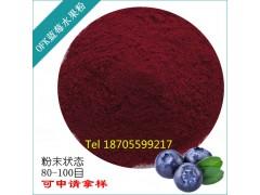 进口喷雾干燥天然速溶蓝莓水果粉批发  食品级固体饮料原料果粉