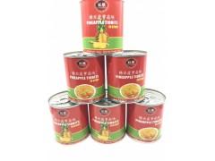 糖水菠萝罐头  850克扇块 厂家直销 零售食品批发 代加工