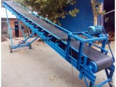 供应皮带输送机倾角可调 粮食电动升降皮带运输机