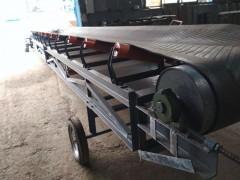 800mm宽碳渣输送胶带机  爬坡式胶带输送机