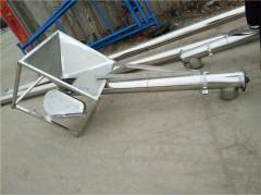 批量生产销售螺旋提升机 倾斜上料螺旋式送料机 绞龙输送机