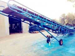 双升降爬坡输送机 垃圾运输传送机,装卸车移动输送机
