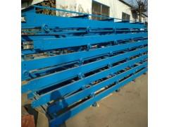 加厚板式水平运输机 平稳送货链板传送机