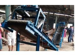 定做50公斤袋装物料传送机 兴亚加宽橡胶带输送机定做