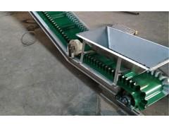 兴亚小型传送带自动化皮带机 食品挡边不散料爬坡皮带机