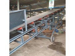 兴亚专业出售 电动升降皮带输送机 纸箱集装箱装车输送机