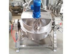 供用燃气夹层锅 可倾电加热夹层锅200L