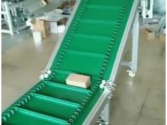 变频调速送料机 箱货爬坡皮带输送机 PVC食品传送带机器