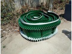 带调节螺杆铝型材送料机 兴亚定做绿色裙边隔挡输送机