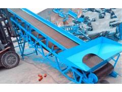 兴亚槽型托辊上料皮带机 玉米小麦散粮移动式皮带运输机