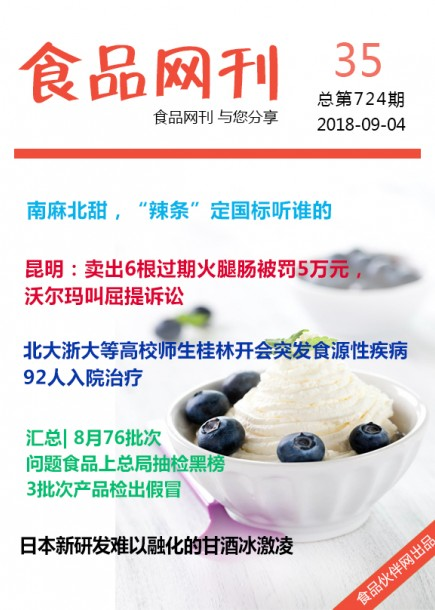 食品网刊2018年第724期