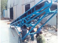 沙土上料U型皮带输送机 固定式槽钢骨架皮带运输机供应