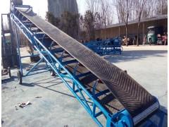10米皮带输送机兴亚供应 倾斜上料电动升降皮带机