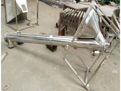 粉料螺旋提升机 304不锈钢倾斜上料颗粒管式输送机供应
