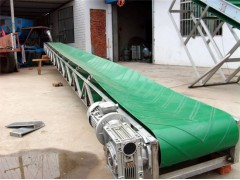 固定式皮带输送机 高效圆管物料装车输送带供应