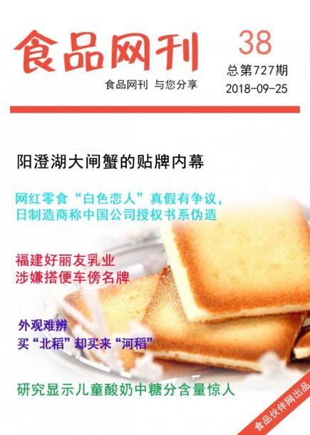 食品网刊2018年第727期