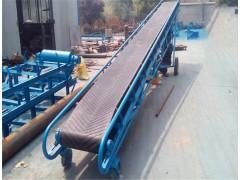 玉米芯装车带料斗皮带输送机 圆管小型移动装车皮带传送机