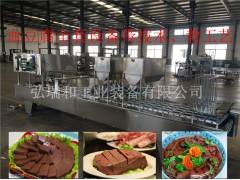 鸭血生产线加工设备_整套鸭血豆腐生产流水线