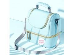 鲜到佳单肩背奶包 便携式母乳储奶包蓝冰冷藏保鲜袋奶瓶保温套