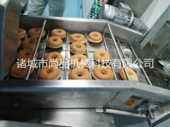 全自动甜甜圈油炸机 油炸酥饼油炸生产线 面包自动油炸线