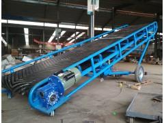 圆管皮带输送机 小型电动升降皮带上料机移动式兴亚供应