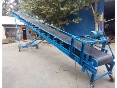 简易式爬坡皮带输送机 水泥仓库单相电输送带