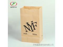 昆明牛皮纸袋食品袋加厚定做方底防油面包打包纸袋批发