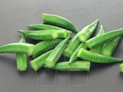 速冻蔬菜 圣纳茜斯 速冻秋葵 冷冻秋葵条 秋葵段 秋葵片