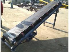 单排槽钢皮带输送机 箱装物料爬坡式皮带传送机加工定制