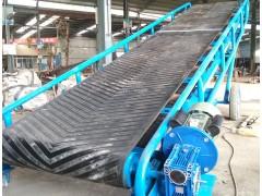 爬坡水平皮带输送机 V型皮带上料机袋装车粮食输送带