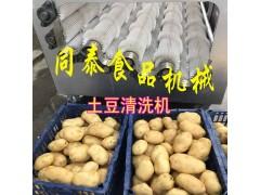 电动毛刷式土豆水洗机,自动土豆清洗机