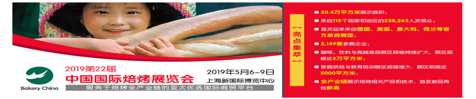 2019第22屆中國國際焙烤展覽會