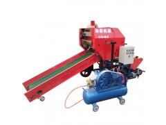 全自动青贮打捆包膜机 多功能牧草饲料包膜机