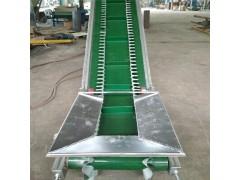 槽钢架皮带输送机 包粮装卸爬坡输送机