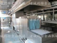 学校食堂洗碗机 长龙式洗碗机厂家  利特洗碗机设备型号
