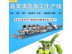 涡流臭氧排渣洗菜机,净菜生产线
